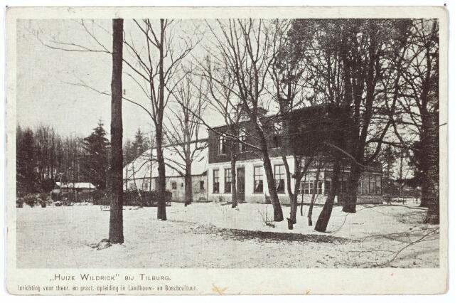000283 - Landbouwscholen. Huize Wildrick, inrichting voor theoretische en praktische opleiding in landbouw en boscultuur. Dit huis is rond 1845 gebouwd en is ooit het jachthuis van koning Willem II geweest.
