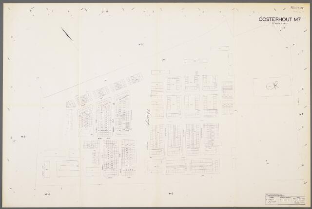 104985 - Kadasterkaart. Kadasterkaart / Netplan Oosterhout. Sectie M7. Schaal 1: 1.000.