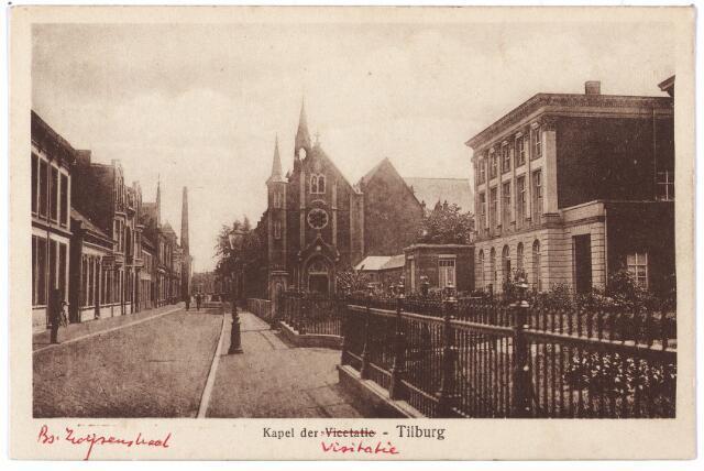 000038 - Bisschop Zwijsenstraat, rechts klooster en kapel van de zusters Visitatie.