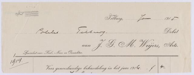 061421 - Briefhoofd. Nota van J.G.M. Weijers, arts voor Politie te Tilburg