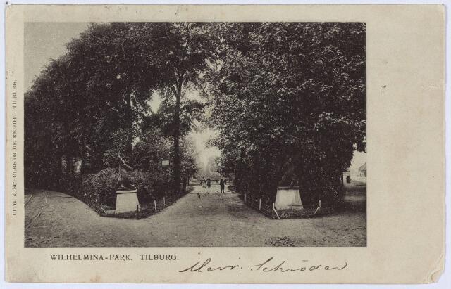 002835 - Wilhelminapark, ingang met herten.