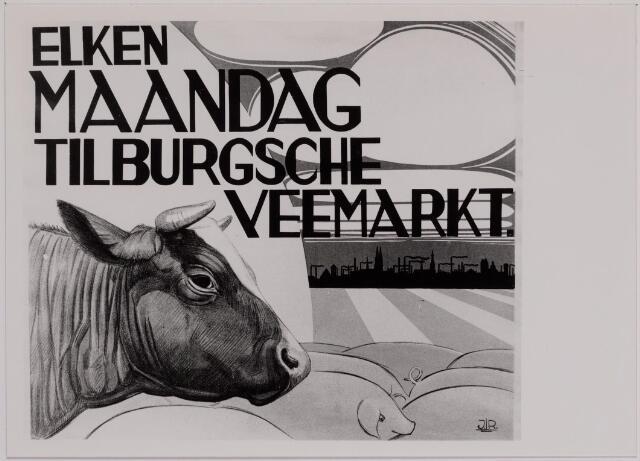 040766 - De veemarkt op het Gemeentelijk slachthuis (abattoir)  Enschotsestraat/Wilhelminakanaal.