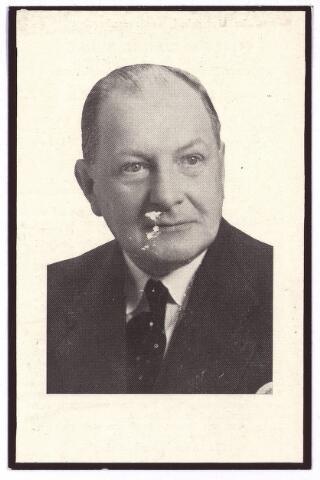 003472 - Bidprentje. Willem Carel Beels, oud luitenant ter zee, gehuwd met Maria M.E.M.C. Brouwers, geboren te Amsterdam op 20 januari 1889, overleden te Tilburg op 13 juli 1958.