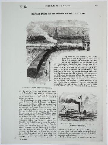 031853 - Spoorwegen: opening 1e treinlijn Breda-Tilburg