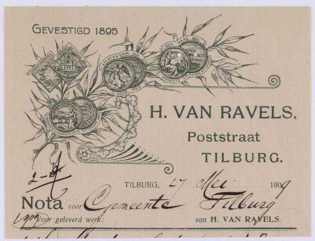 060949 - Briefhoofd. Nota van H. van Ravels, Poststraat voor de gemeente Tilburg