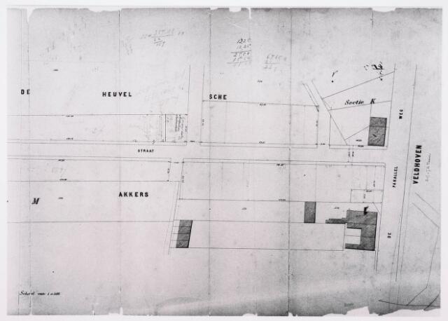 035209 - Kaart. kadastrale kaart sectie M uit 1870