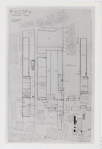 037939 - Textiel. Plattegrond van het complex van wollenstoffenfabriek C. Mommers & Co. aan de Goirkestraat in 1917