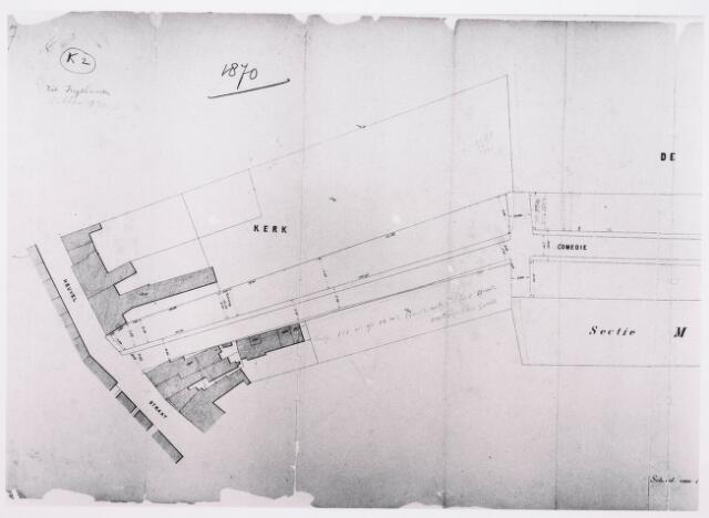 035208 - Tekening. Kadastrale tekening kaart sectie K2 uit 1870