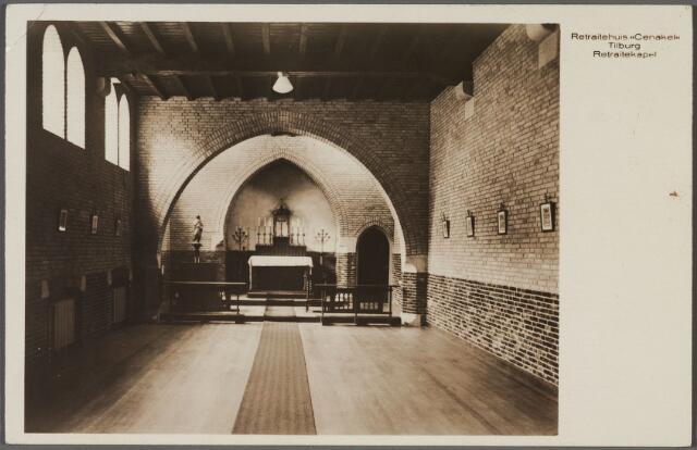 010988 - interieur kapel van de retraitanten van retraitehuis Cenakel aan de Koningshoeven, nu Kempenbaan.