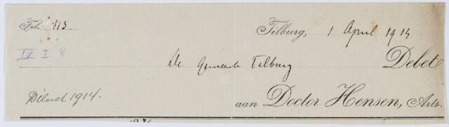 060270 - Briefhoofd. Nota van Doctor Hensen voor de gemeente Tilburg