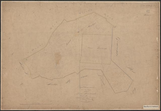 652576 - Kadasterkaart Tilburg, Sectie A (Heikant), blad 5. Schaal 1:2500. z.j.