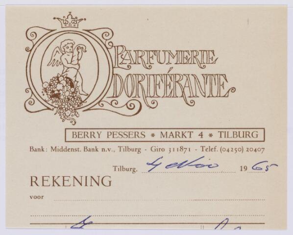 059973 - Briefhoofd. Briefhoofd van fa Odorif'erant, parfumerie B. Pessers