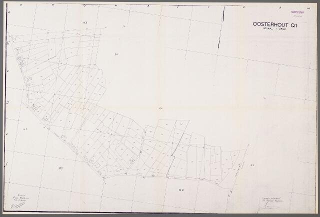 104956 - Kadasterkaart. Kadasterkaart / Netplan Oosterhout. Sectie Q1. Schaal 1: 2.500.