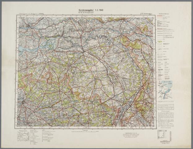 059458 - Kaart. Kaart van Noord-Brabant.