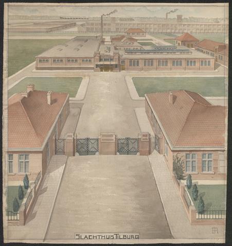 652560 - Tekening slachthuis van B. Ruigvoorn.