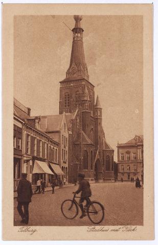 001875 - Oude Markt voorheen de Markt met kerk van het Heike en gemeentehuis.