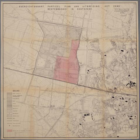 059442 - Kaart. Stadsuitbreiding. Bestemmingsplan. Het Zand I,  1957, bestemmingen