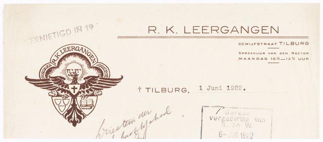 060556 - Briefhoofd. Briefhoofd van R.K. Leergangen, Bosscheweg 339-341