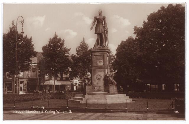 000994 - Heuvel, standbeeld Koning Willem II.