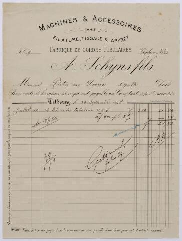 061090 - Briefhoofd. Nota van A. Schijns fils, Wilhelminapark 34 voor Pieter van Dooren