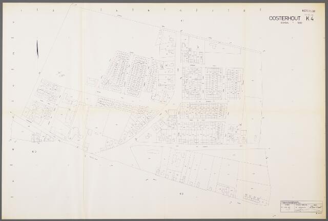 104976 - Kadasterkaart. Kadasterkaart / Netplan Oosterhout. Sectie K4. Schaal 1: 1.000.