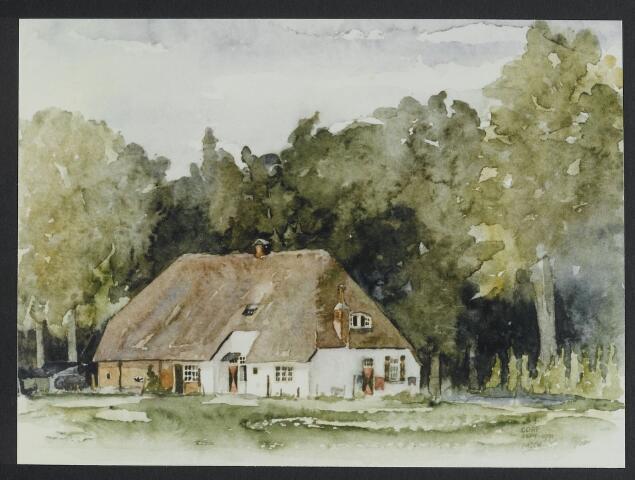 "072191 - Aquarel. Frater Paschalius ""Goirle in aquarel"". Boerderij op Gorp onder Hilvarenbeek."