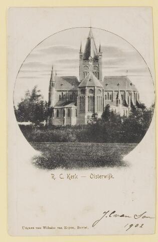 074116 - De R.K. Kerk St.- Petrus'-Bandenkerk (Petruskerk). Architect: Pierre Cuypers. Ingewijd in 1897. In 1972 werd hij op Rijksmomentenlijst geplaatst.