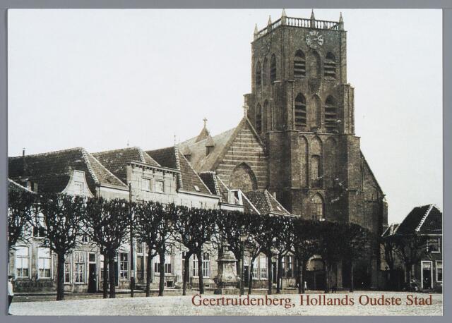 058307 - De Nederlands Hervormde kerk en de Elfhuizen aan de Markt