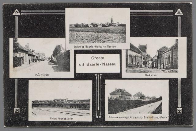065436 - Kerkstraat. Ambtenarenwoningen grensstation Baarle-Nassau-Weelde. Grensstation. Molenstraat.