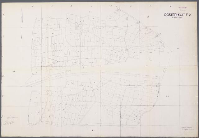104952 - Kadasterkaart. Kadasterkaart / Netplan Oosterhout. Sectie P2 Schaal 1: 2.500