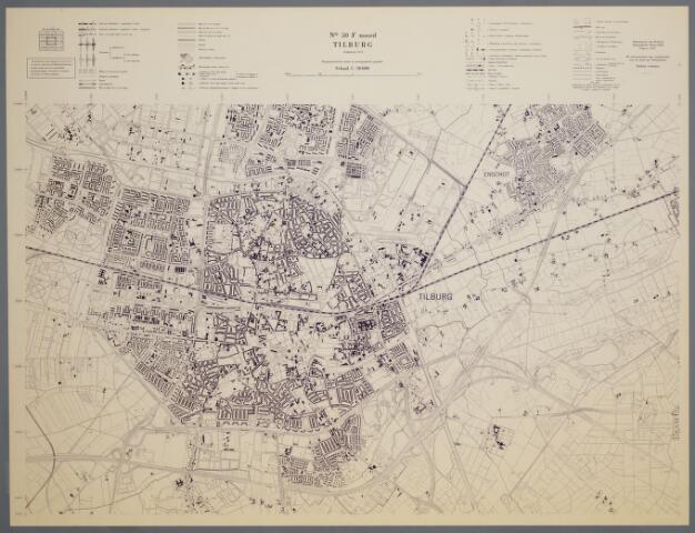 059450 - Kaart. Stafkaart Tilburg nr. 50 F noord. Op deze kaart Tilburg en Berkel-Enschot. Plattegrond van Tilburg en Berkel-Enschot.