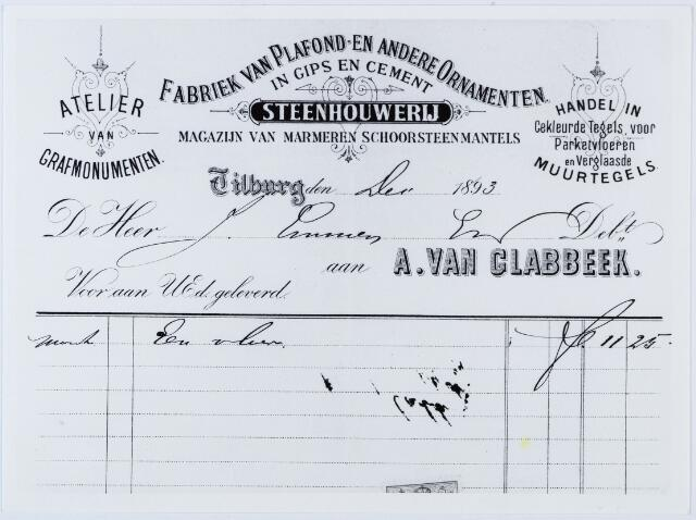 060166 - Briefhoofd. Nota van A. van Glabbeek, steenhouwerij voor J Emmen