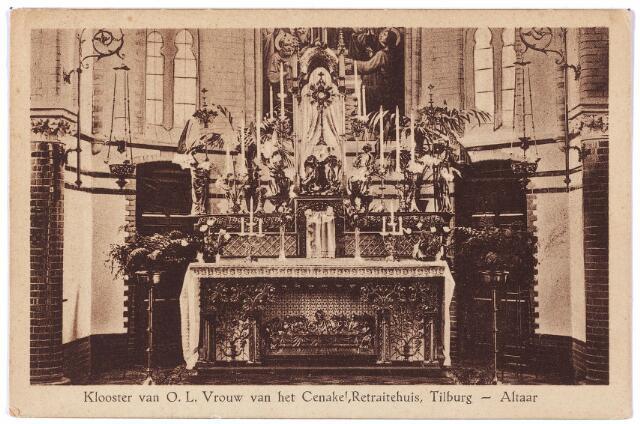 001397 - Hoofdaltaar in de kapel van het klooster en retraitehuis van O. L. V. van het Cenakel aan de Koningshoeven, nu  Kempenbaan.