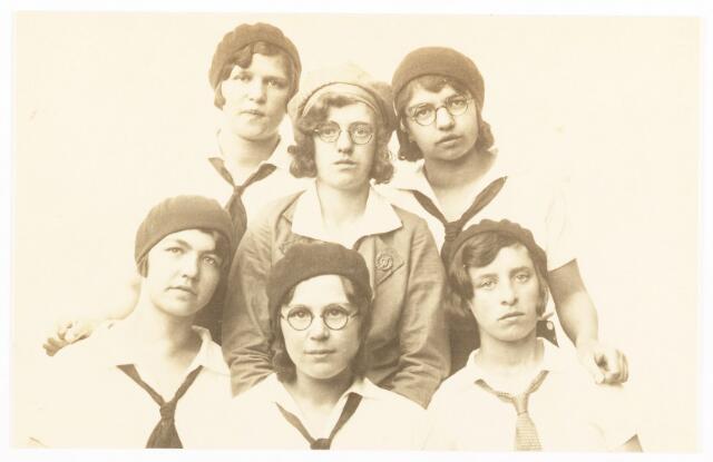 052855 - Volt sport gymnastiek. Enkele dames rond 1930.