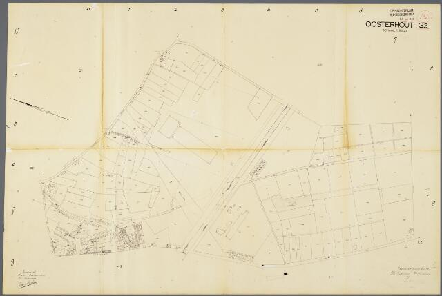 104938 - Kadasterkaart. Kadasterkaart / Netplan Oosterhout. Sectie G3 Schaal 1: 2.500