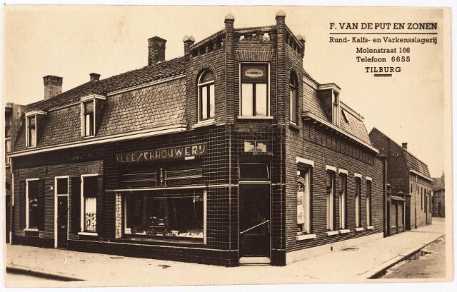 033871 - Run- Kalfs- en varkensslagerij F. van de Put en Zonen aan de Molenstraat 166, thans Veldhovenring.
