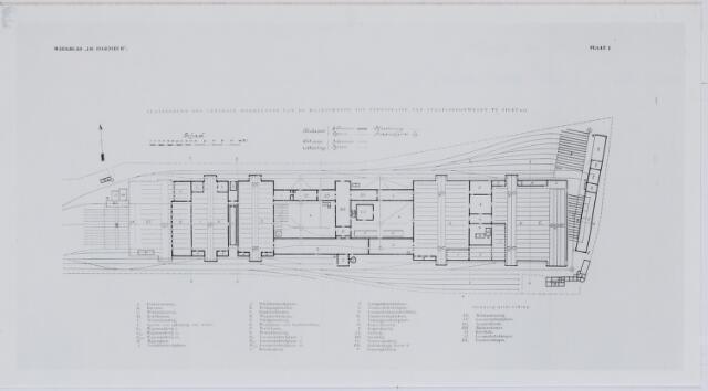 036921 - Spoorwegen, Centrale Werkplaats, Atelier, NS: Plattegrond  der Centrale Werkplaats van de Maatschappij tot Exploitatie  van Staatsspoorwegen te Tilburg in 1906.