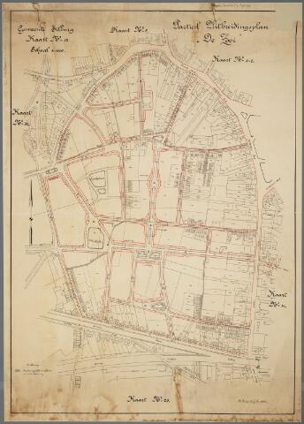 066001 - Kaart. Stadsuitbreiding. Bestemmingsplan. Partieel uitbreidingsplan De Zooi.