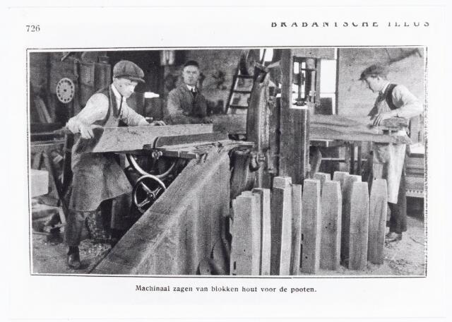 039672 - Biljartfabriek A.P.C. Roothaert Het Zuiden, Telefoonstraat 22, opgericht 1887.   Reproductie uit Brabantse Illustratie