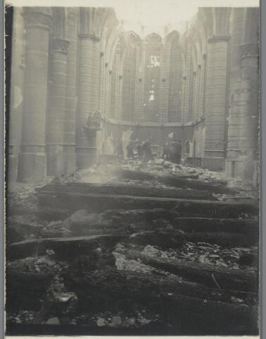 89218 - Door brand verwoeste parochiekerk Terheijden