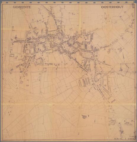 104901 - Kadasterkaart. Kadasterkaart Oosterhout. Schaal 1 : 2.500