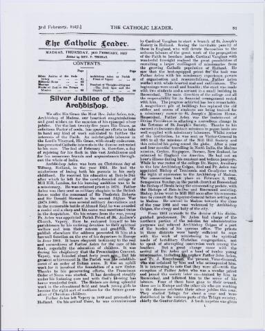 006400 - Mgr. Joannes Cornelis Christianus (John) Aelen, geboren Tilburg 25 december 1853, overleden Madras 11 februari 1929, lid congregatie Mill Hill, aartsbisschop Madras India.