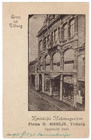 001072 - Heuvelstraat de  Koninklijke Modemagazijnen firma G.  Meelis, opgericht in 1840, later Bahlmann en sinds 1935 C. & A.