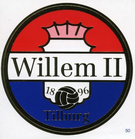 071441 - Voetbal. Sticker uitgegeven bij het 100-jarig bestaan van voetbalclub Willem II.