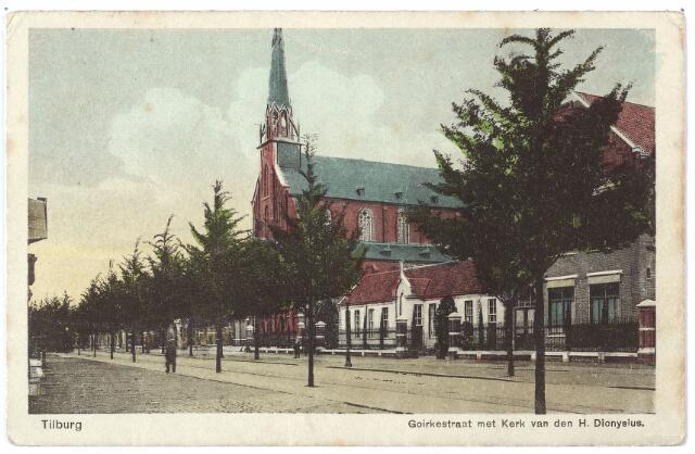 000592 - Goirkestraat met Mariaschool en kerk St. Dionysius.