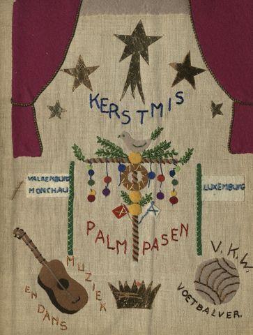 1608_018_ - Fotoalbum Koningswei, 1961-1964 Foto's en enkele documenten. O.a. over carnavalsviering (1961), kerstviering (1961), reis naar Luxemburg (1962), passiespel (1962), kamp in Boekel (1964) en uitstapje naar de Efteling (1964)