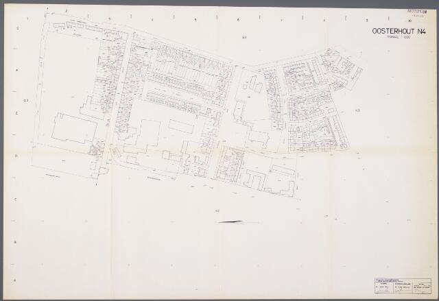 104947 - Kadasterkaart. Kadasterkaart / Netplan Oosterhout. Sectie N4. Schaal 1: 1000.