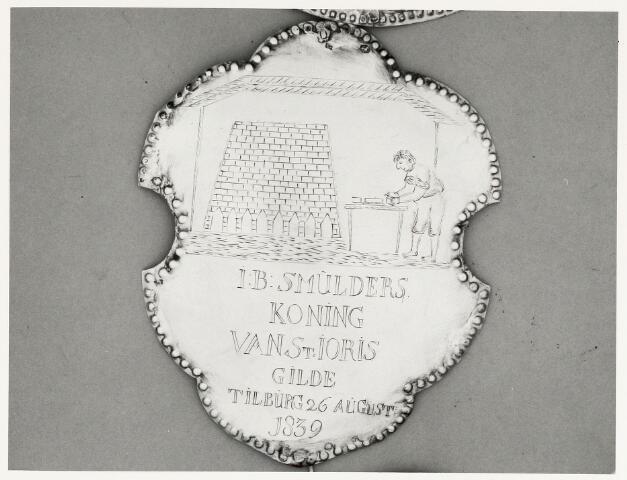 067038 - Schuttersgilden. Gilde Sint Joris. Koningsschild van Jan Baptist Smulders.