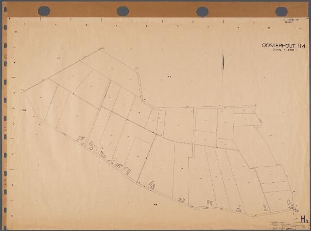 104780 - Kadasterkaart. Kadasterkaart Oosterhout Sectie H4, Schaal 1: 2.000