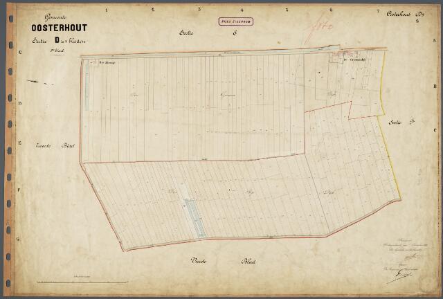 104707 - Kadasterkaart. Kadasterkaart Oosterhout Sectie D3. Schaal 1: 2.500